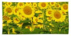 Field Of Sunflowers Hand Towel