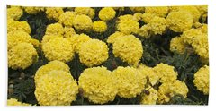 Field Of Yellow Marigolds Hand Towel