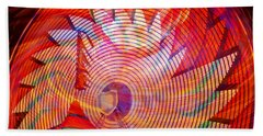 Bath Towel featuring the photograph Fiery Ferris Wheel by David Lee Thompson
