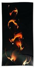 Bath Towel featuring the digital art Fiery Flower by Anastasiya Malakhova