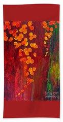 Bath Towel featuring the painting Fiery by Teresa Wegrzyn