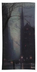 Fifth Avenue At Twilight Hand Towel
