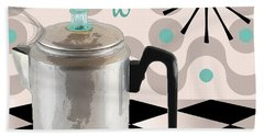 Fifties Kitchen Coffee Pot Perk Coffee Bath Towel