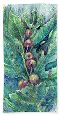 Figful Tree Bath Towel by Ashley Kujan