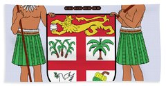 Fiji Coat Of Arms Bath Towel by Movie Poster Prints