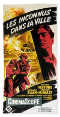 Film Noir Poster   Violent Saturday Hand Towel