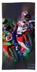 Fim Superbike Nicky Hayden Leads The Way Bath Towel
