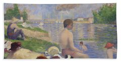 Final Study For Bathers At Asnieres Hand Towel