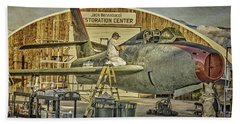 F-84f Thunderstreak Final Touches  Bath Towel