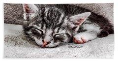 Finally Asleep  Copyright Mary Lee Parker 17  Bath Towel