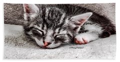 Finally Asleep  Copyright Mary Lee Parker 17  Bath Towel