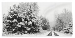 Bath Towel featuring the photograph Find A Pretty Road by Lori Deiter