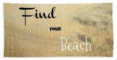 Find Your Beach Bath Towel