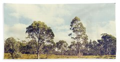 Fine Art Australia Landscape. Retro Tasmania Field Bath Towel