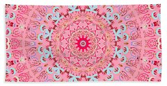 Bath Towel featuring the digital art Fine China Kaleidoscope by Joy McKenzie