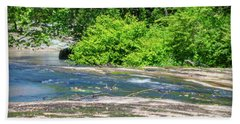 Hand Towel featuring the photograph Fine Creek No. 3 by Laura DAddona