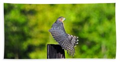 Hand Towel featuring the photograph Fine Feathers by Al Powell Photography USA