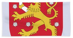 Finland Coat Of Arms Bath Towel by Movie Poster Prints