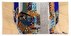 Bath Towel featuring the tapestry - textile Finn Star Wars Awakens Afrofuturist  by Apanaki Temitayo M