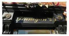 Finnegan's Sign/ Bono's Pub Bath Towel