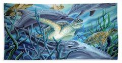 Fins And Flippers Bath Towel