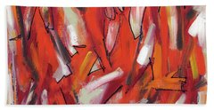 Fire And Light Hand Towel by Lynne Taetzsch