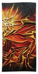Fire Hand Towel by Angela Stout