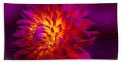 Fire Flower Hand Towel
