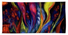 Fire Flowers Bath Towel