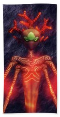 Fire God Of Hell By Sarah Kirk Hand Towel