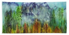 Fire In Glacier Park Hand Towel