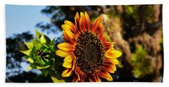 Fire In The Garden Hand Towel by Angela J Wright