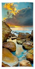 Fire In The Sky Bath Towel by Az Jackson
