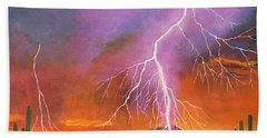 Fire In The Sky Bath Towel