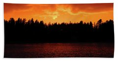 Fire In The Sky Hand Towel