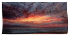 Fire In The Sky Hand Towel by Valerie Travers