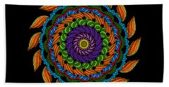 Fire Mandala Bath Towel
