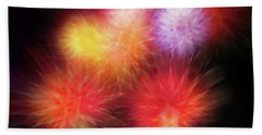 Fire Mums Floral - Fireworks Collage Hand Towel