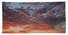 Fire Sky Bath Towel by Ana Mireles