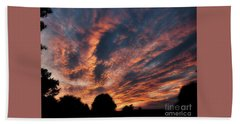Fire Swept Sky  Bath Towel