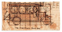 Bath Towel featuring the photograph Fire Truck Bunk Bed by Larry Campbell