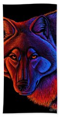 Fire Wolf Hand Towel