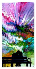 Fire Works In The Park Hand Towel