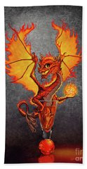 Hand Towel featuring the digital art Fireball Dragon by Stanley Morrison