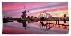 Fired Sky Kinderdijk Bath Towel