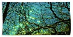 Fireflies Hand Towel by David Stasiak