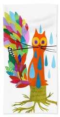 Firefox Hand Towel by Anne Vasko