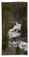 Bath Towel featuring the photograph Firehole Canyon by Steve Stuller