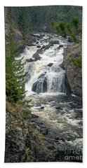 Firehole Falls Hand Towel by Cindy Murphy - NightVisions