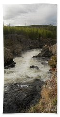 Firehole River Cascade Hand Towel by Cindy Murphy - NightVisions
